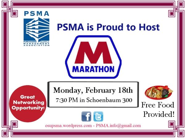 Marathon on Feb 18th at 7:30 SB 300!